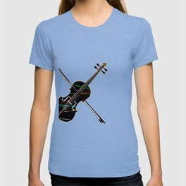 Country Fiddle Lazer Lights T-shirt