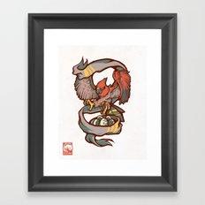Flame Body Framed Art Print