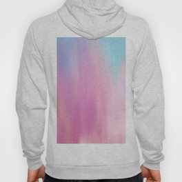 Abstract teal pink watercolor artistic brushstrokes Hoody