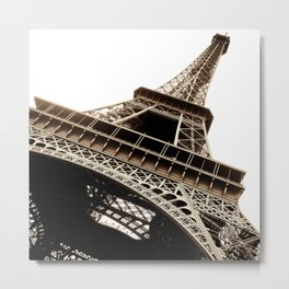 Eiffel Tower Material Metal Print