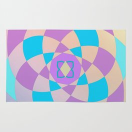 Mandal color wheel Rug