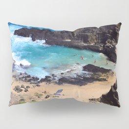 """Forbidden, """"NO TRESPASSING"""" Beach in Oahu, Hawaii Pillow Sham"""