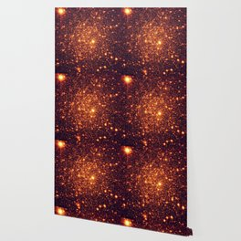 Copper Bronze Glitter Stars Wallpaper