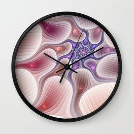 Fractal Elegance, modern and decorative Shapes Wall Clock
