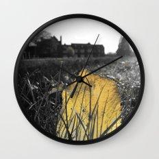 Golden Leaf  Wall Clock