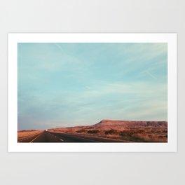 Texas I-10 Art Print