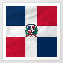 The Dominican Republic - North America Flags Art Print