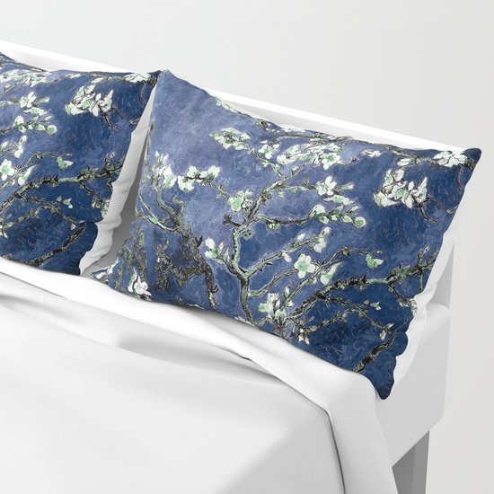 Vincent Van Gogh Almond Blossoms Dark Blue by purelove