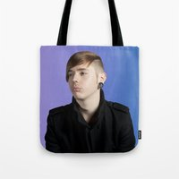 dave matthews Tote Bags featuring DAVE by vlphotography