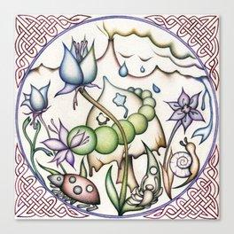Mushroom Mandala Canvas Print