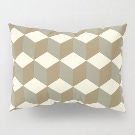 Diamond Repeating Pattern In Meerkat Brown and Grey Pillow Sham