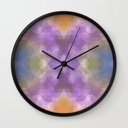 """""""Carnival time"""" triangles design Wall Clock"""