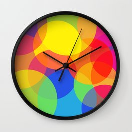 Abstract Colorful Round Lights Wall Clock