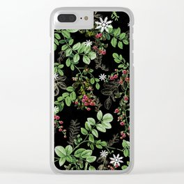 mid winter berries Clear iPhone Case