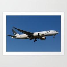 Pakistan International Airlines Boeing 777 Art Print