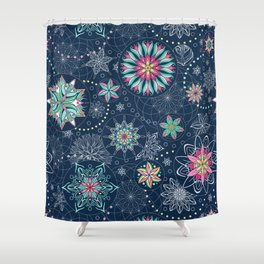 Circle Mandalas - kaleidoscope geometric circle patterns Shower Curtain