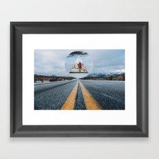 the road so far... Framed Art Print