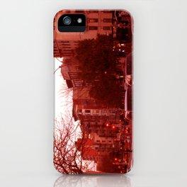 NYC Houston Street at Dusk - Red Haze iPhone Case