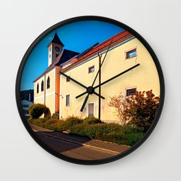 The village church of Eidenberg Wall Clock