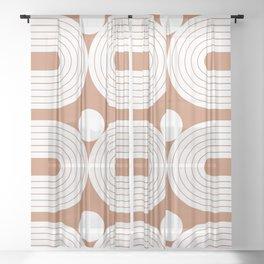 Abstraction_Balance_Shape_001 Sheer Curtain