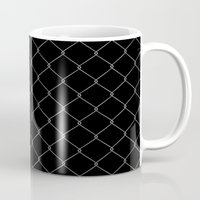the wire Mugs featuring Wire Fence by Crazy Thoom