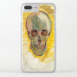 Vincent Van Gogh Skull Clear iPhone Case