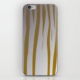 wild design exotic lines gold iPhone Skin