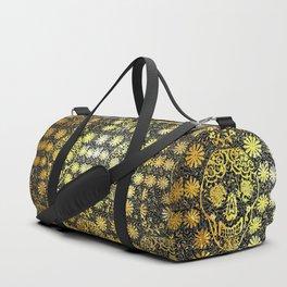 Gold Tiled Sugar Skulls Duffle Bag