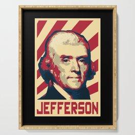 Thomas Jefferson Retro Propaganda Serving Tray