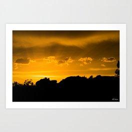 Moab Sunset Art Print