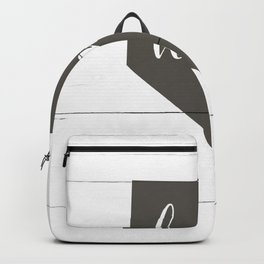 Nevada is Home - Charcoal on White Wood Backpack