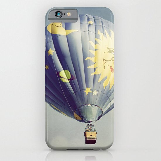 Moon and Stars Hot Air Balloon iPhone & iPod Case