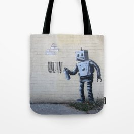 Banksy Robot (Coney Island, NYC) Tote Bag