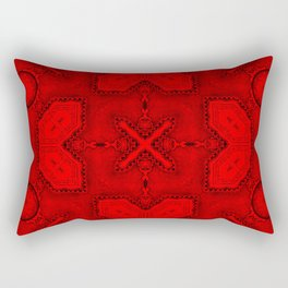 Victorian Art Deco Medieval Pattern bright red SB26/2 Rectangular Pillow