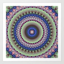 Girly Mandala Art Print