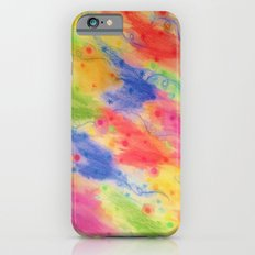 SEEING STARS 2 - Yellow Rainbow Pretty Starry Sky Abstract Watercolor Painting Feminine Pattern iPhone 6s Slim Case