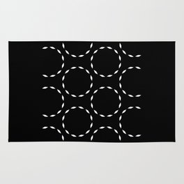 Minimalist black and white circles pattern. Rug