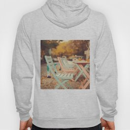Dream Autumn (Pink and blue coffee shop chairs on retro and vintage fall) Hoody