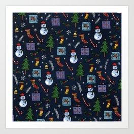 A Very Merry Christmas Art Print