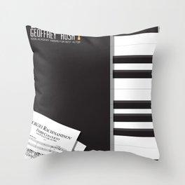 Shine, Geoffrey Rush, David Helfgott, Scott Hicks, alternative movie poster, minimalist film, affich Throw Pillow