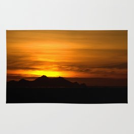 Sunset and Vestmannaeyjar 3 Rug