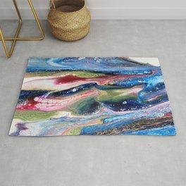 ColorFall Jewel Tones Abstract Rug