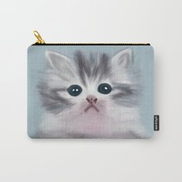 Cute Grey Kitten Carry-All Pouch