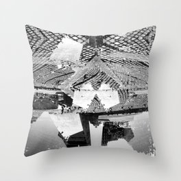Summer space, smelting selves, simmer shimmers. 23, grayscale version Throw Pillow