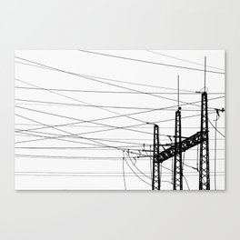 Electricity Plant Canvas Print