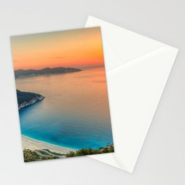The sunset at the famous beach Myrtos in Kefalonia island, Greece Stationery Cards