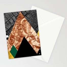 fall abstract triangle Stationery Cards