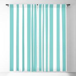 Vertical Aqua Stripes Blackout Curtain
