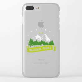 Protect Our National Parks Clear iPhone Case
