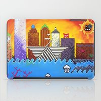 milwaukee iPad Cases featuring 8 Bit Milwaukee by Amanda Iglinski